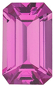 Pink Spinel Emerald Cut in Grade GEM