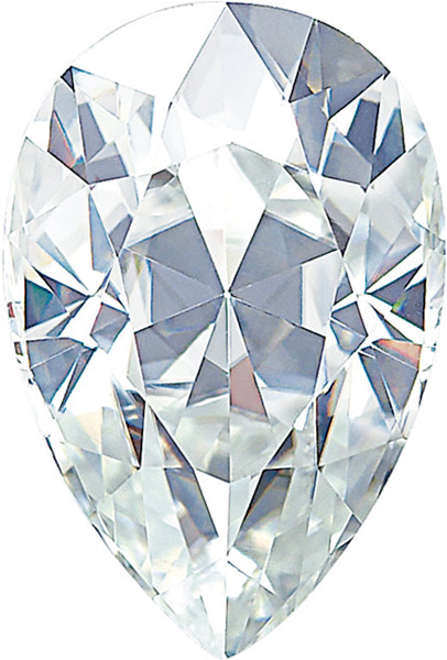 Forever One Moissanite Colorless Pear Cut