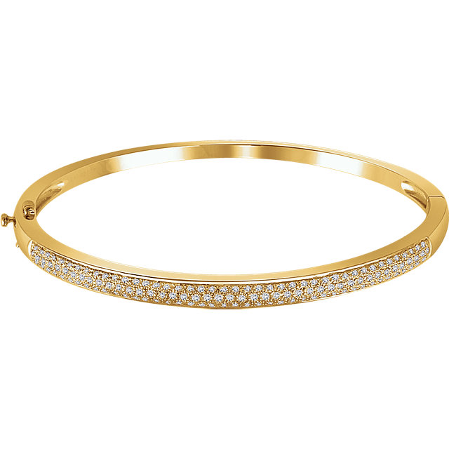 14KT Yellow Gold 1 CTW Diamond Pave' Bracelet