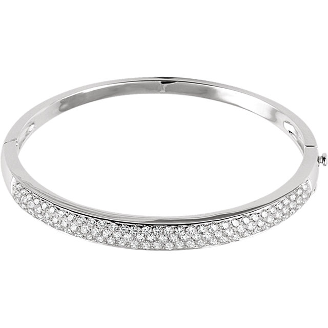 14KT White Gold 3 CTW Diamond Pave' Bracelet