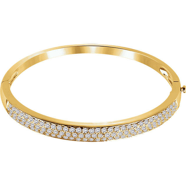 14KT Yellow Gold 3 CTW Diamond Pave' Bracelet