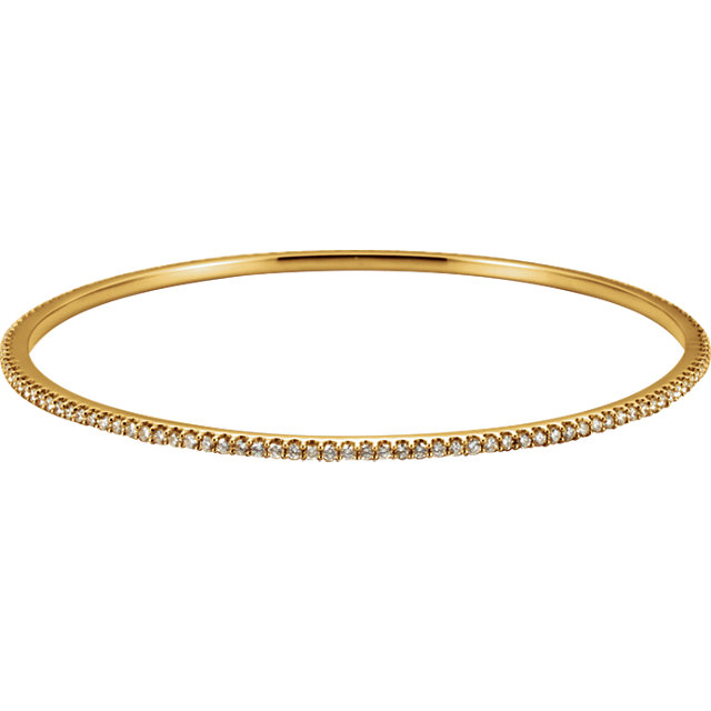 14KT Yellow Gold 2 CTW Diamond Stackable Bangle Bracelet