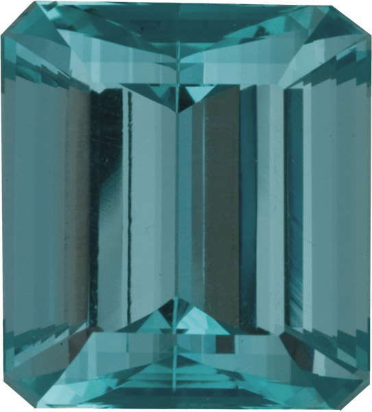 Rare Unheated Aquamarine Loose Gemstone in Intensely Saturated Greenish Blue Color, 20.6 x 18.0 mm, 31.40 carats