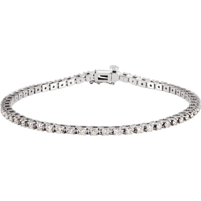 14KT White Gold 2 CTW Diamond Line 7.25
