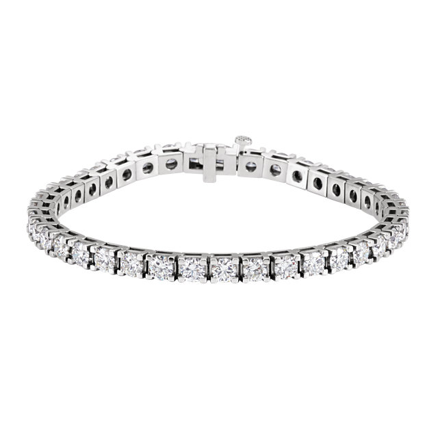 14KT White Gold 9 3/4 CTW Diamond Line 7.25
