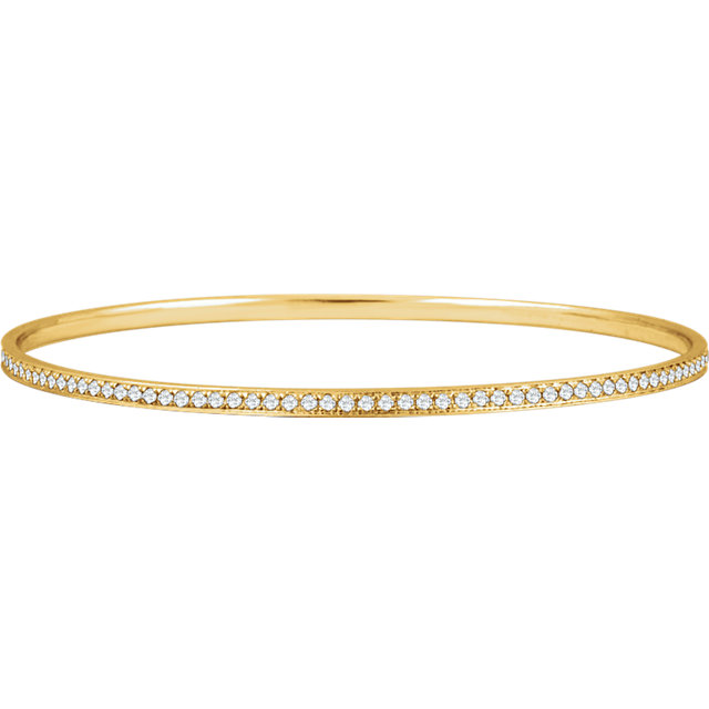 14KT Yellow Gold 1 1/2 CTW Diamond Bangle Bracelet