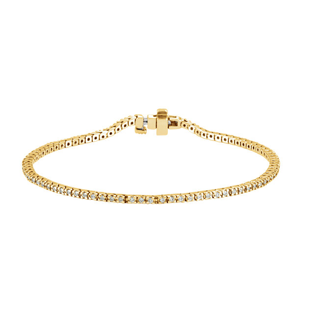14KT Yellow Gold 1 CTW Diamond Line 7.25
