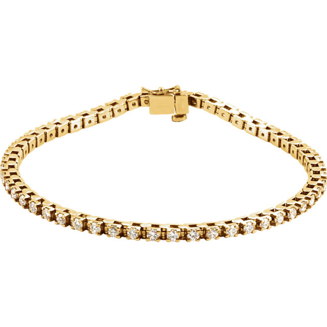 14KT Yellow Gold 2 1/8 CTW Diamond Line Bracelet