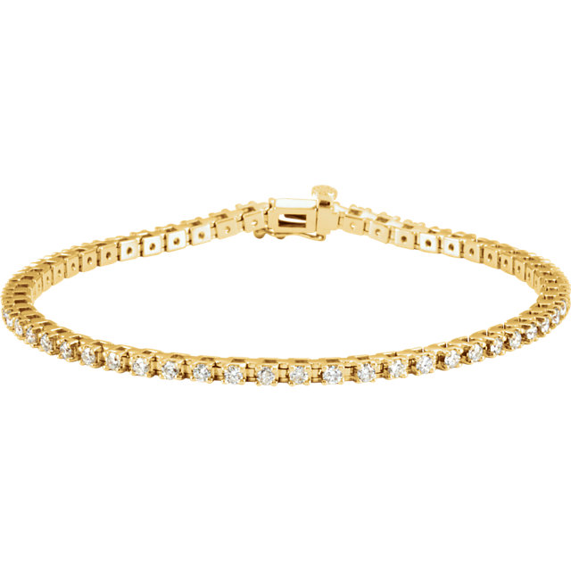 14KT Yellow Gold 2 CTW Diamond Line 7.25