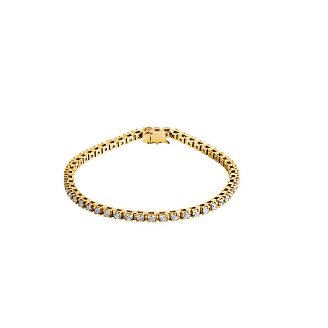 14KT Yellow Gold 3 1/2 CTW Diamond Line 7.25