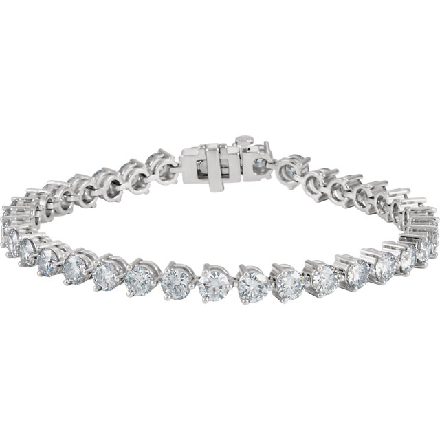 18KT White 12 CTW Diamond Line 7.25