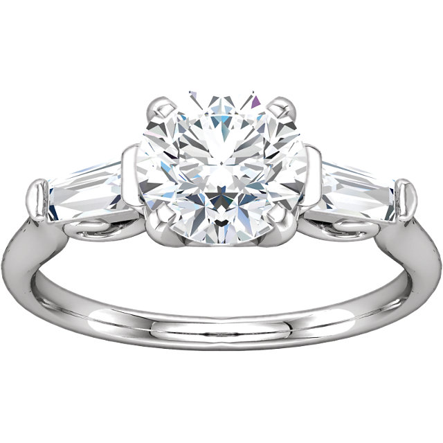 Sterling Silver 1/4 CTW Sculptural-Inspired Engagement Ring