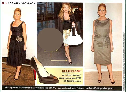 Lee Ann Womack in Oh...DEER! Style Shoes (as seen in People)