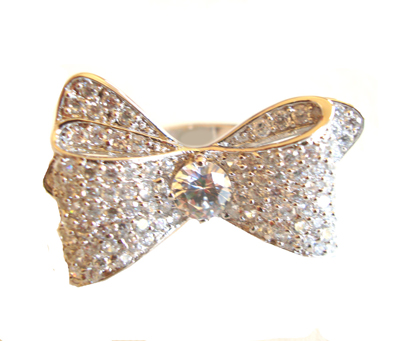 Sparkling Bow Ring
