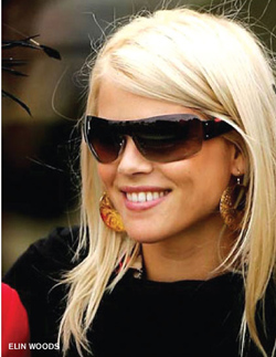 Elin Nordegren Woods in Kipepeo Lily Earrings