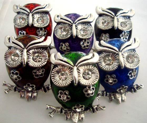 Owl Rings - Colorful and Chic - Adjustable