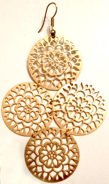 Kipepeo Filigree Snowflake Earrings