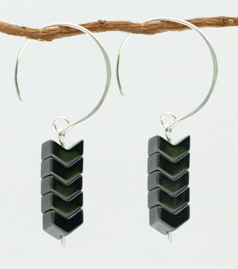 Kris Nations Chevron Hoop Earrings - Gold or Silver