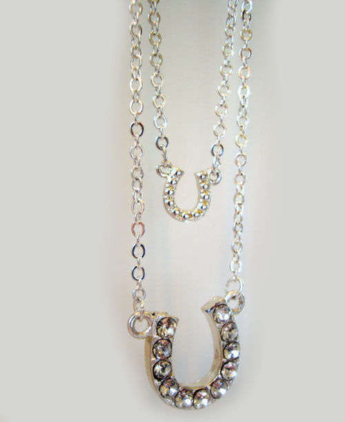 Lucky Double Horse Shoe Necklace