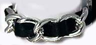 Braided Chain Bracelet (Black and Silver)