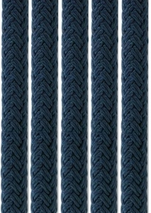 Samson Solid Color Nylon Double Braid Rope -Black