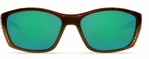 Costa 400G Fisch Sunglasses: Tortoise / Green Mirror Mfg#FS-10-GMGLP