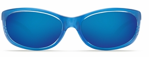 Costa 580G Fathom Sunglasses: Sky Blue / Blue Mirror Mfg#FA-46-OBMGLP