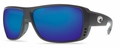 Costa 580G Double Haul Sunglasses: Black / Blue Mirror Mfg#DH-11-OBMGLP