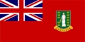 3' X 5' British Virgin Island Red Flag