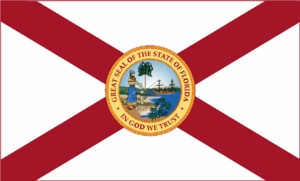 "12"" X 18"" Florida Nylon Flag"