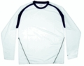 Gill Long Sleeve Tec Tee: White - Navy