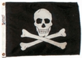 "12"" x 18"" Jolly Roger Flag"