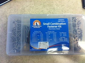 Stainless Steel Small Combination Fastner Kit - 236 Pieces