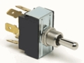 Double Pole, Double Throw Nickel Plated Brass Toggle Switch