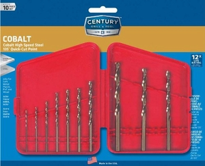 10Pc Century Cobalt Drill Bit Set #26310