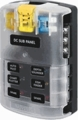 Screw Terminal Blade Fuse Block With Cover - 6 Circuit with Negative Bus