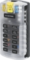 Screw Terminal Blade Fuse Block With Cover - 12 Circuit with Negative Bus