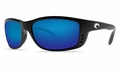 Costa 580 Zane Sunglasses: Black / Blue Mirror - MFG#ZN-11-OBMGLP