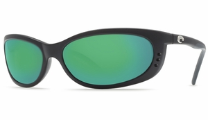 Costa 580 Fathom Sunglasses: Black / Green Mirror - MFG#FA-11-580GM