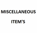 Miscellaneous item's