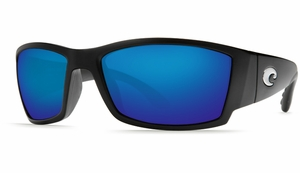 Costa Corbina Sunglasses: Black / Blue Mirror - MFG#CB-11-BMGLP
