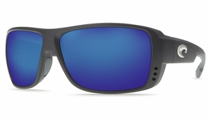 Costa Double Haul Sunglasses: Black / Blue Mirror - MFG#DH-11-BMGLP