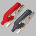 Alligator Clip Blk/Red 2 Pck Vinyl Coated