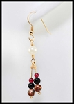 Pearl and Jasper Hanging Earrings