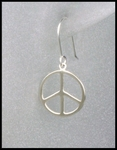 Sterling Silver Peace Earrings