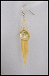 Lemon Topaz and Gold Chain Dangle Earrings