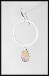 Ametrine and Silver Hoop Earrings