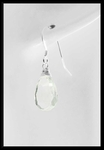 Prasiolite Drop Earrings in Sterling Silver