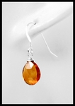 Citrine Sterling Silver Drop Earrings