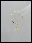 Lemon Quartz Open Hoop in 18K Gold Vermeil